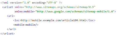 mobile xml sitemap they are used only by search engines and point to