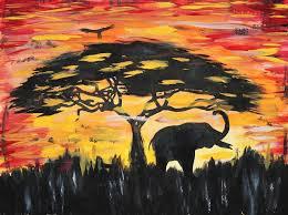 abstract elephant art painting tree elephant artafrica abstract elephant art