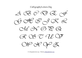 Calligraphy Letter Chart Theme 2 Calligraphy Letters