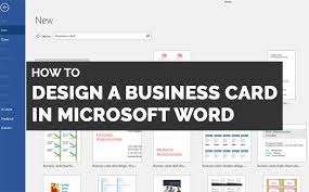 How To Make Business Cards In Word Why You Shouldnt