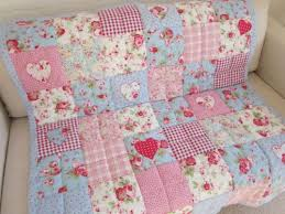 Vintage style baby quilt cot quilt crib quilt true vintage French ... & Vintage style baby quilt cot quilt crib quilt true vintage French chic quilt  handmade | Lap quilts, Cath kidston and Cath kidston fabric Adamdwight.com