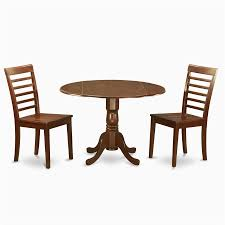 east west furniture dublin mahogany 3 piece dining set with round dining table