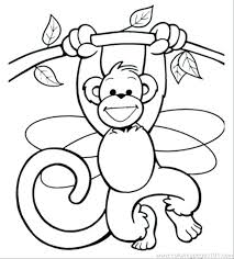 Free Baby Monkey Coloring Pages Monkey Color Page Baby Monkey