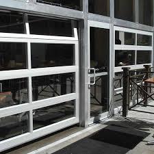 commercial garage door restaurant. Aluminum Full View Glass Garage Doors On Restaurant   Commercial Overhead - Dodds Door