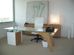 modern desks for home office. office modern glass top wooden desk and white executive chair padded arms also desks for home e