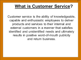 How Would You Describe Customer Service Part Define Customer Service 2 Describe Factors That Have