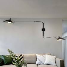 swing arm wall mount light with