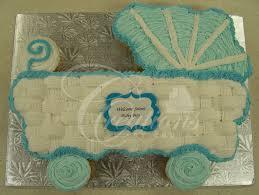 In Shape Of Stroller For Baby Shower Cakes Baby Shower Cupcake Cake