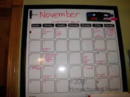 i put the main big dry erase calendar in our kitchen there were other smaller planning boards included a rectangular chalk board a larger rectangular dry