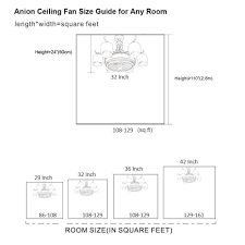how to measure fan size lamp bedroom ceiling fan size trends and guide how to measure