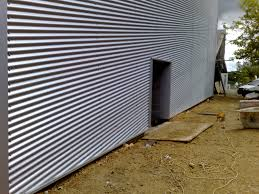 image of modern corrugated metal panels