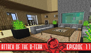 Minecraft Living Room Designs Minecraft Living Room With Fish Tank Attack Of The B Team 11