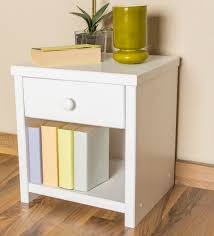 bedside table solid pine wood in a white paint finish junco 127 dimensions 43 x 40 x 35 cm