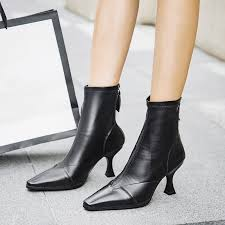 us 55 women s boots ankle boots genuine leather fashion booties large size 41zipper pointed toe matin boots ardenfurtado com