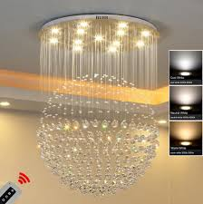 new modern spherical led dimming crystal ceiling lights pendant lamp chandeliers