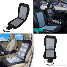 cooling car seat cushion cover 12v air ventilated fan air conditioned cooler pad car set covers cars seat covers accessories from haopengfei88