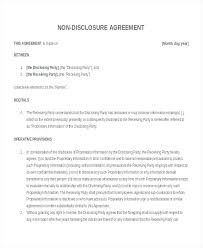 Free Nda Template Nda Free Template Non Disclosure Agreement Form Free Non