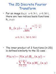the 2d discrete fourier transform