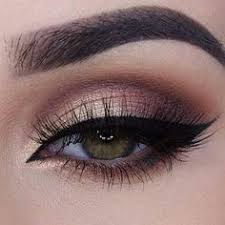 brown style eye make up