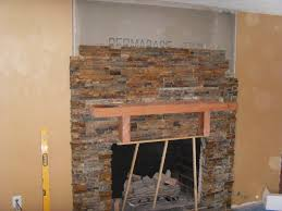 set fireplace at tile