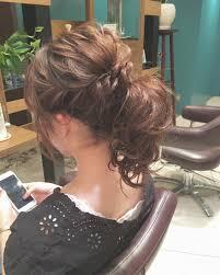 ミディアムセミロングさん結婚式向けヘアアレンジ教えます Arine