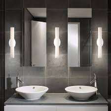 Exellent Designer Bathroom Light Fixtures Modern Lighting Wall Sconces Intended Ideas