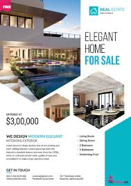 Home Sale Flyer Template Real Estate Brochure Templates Psd Free Download Best Samples 1
