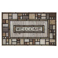 mohawk recycled rubber drifted nature mat area rugs meijer grocery pharmacy home more
