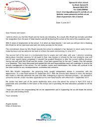 Headteacher Parent Letter Spixworth Infant School