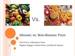 Organic Vs Conventional Foods Chart Organic Vs Non Organic Food Authorstream