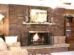 brick fireplace designs decor mantel images