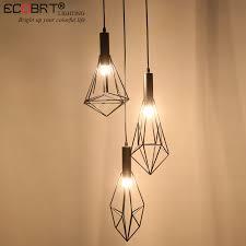 warehouse style lighting. ECOBRT Retro Black Indoor LED Pendant Light Vintage Iron Cage Lampshade Warehouse Style Lighting Fixtures/E27 Bulb 100 240V AC-in Lights From E