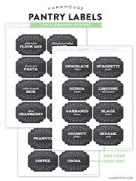 Free Farmhouse Pantry Label Printables by @lia griffith Both Chalkboard and  Kraft design available.