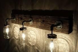 Barnwood Mason Jar Light Fixture - HD Wallpapers