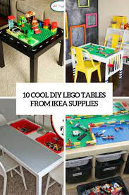 These eleven ikea hacks turn plain lack tables into stunners! 10 Cool Diy Lego Tables From Ikea Supplies Shelterness