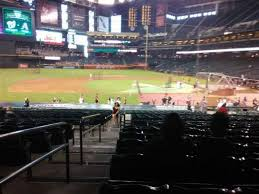 Chase Field Seating Chart Infield Reserve Chase Field Section 127 Home Of Arizona Diamondbacks