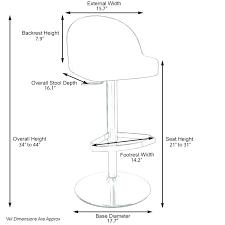 Bar Stool Size Chart Sizes Of Bar Stools Hiddenquatrains Info