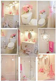 my pink and white girl s bathroom