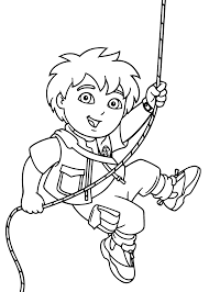 Diego Coloring Pages With Wire For