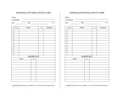 33 Printable Baseball Lineup Templates Free Download