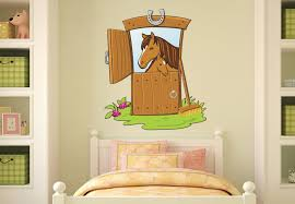 horse stable wall sticker cute pony nursery decor on horse wall decor stickers with wall decal awesome home design ideas with horse decals for walls