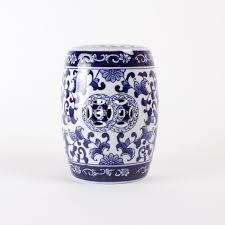 blue chinoiserie porcelain mini garden