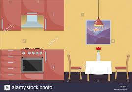 Modern Stylish Kitchen Interior Kitchen Furniture Gas Stove