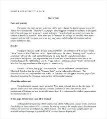 Apa 6 Sample Paper Free Template Download Word Research Paper In Apa 6th