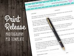 Photographer Release Forms Best Print Release Form For Photographers Photography Business Etsy