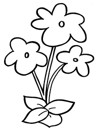 Printable Small Flower Coloring Pages Flowers Healthy