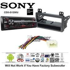 sony cd car stereo radio kit dash installation mounting with Pioneer Car Stereo Wiring Harness Diagram image is loading sony cd car stereo radio kit dash installation