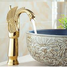 new gold finish single lever deck mounted bathroom sink faucet mixer