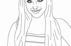 Small Picture coloring pages for girls ariana grande Just Colorings