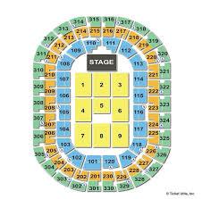 Oklahoma Thunder Arena Seating Chart Chesapeake Energy Arena Oklahoma City Ok Seating Chart View